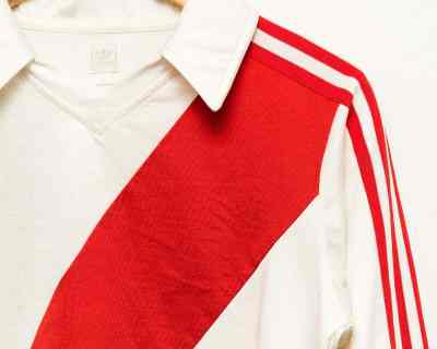 POLO LS – ADIDAS – RED STRIPE SPORT – Size S