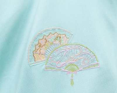 JACKET – SERGIO TACCHINI – EMBROIDERED FAN PASTEL COLOR – Size XL