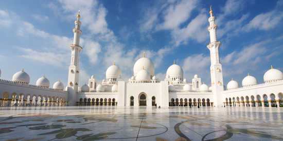 Sheikh Zayed mosque at Abu-Dhabi, UAE,