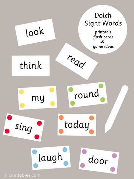 Influential image intended for sight word flashcards printable