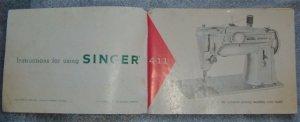 Singer 411 open