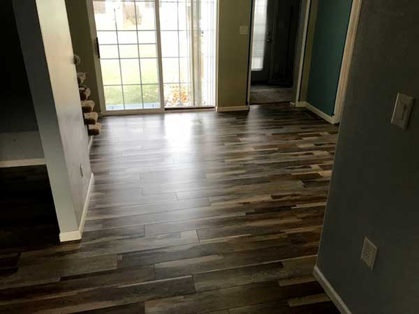 New flooring in home entryway looks great