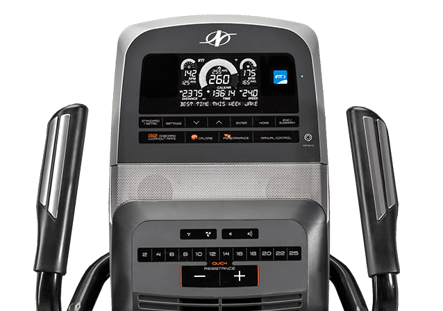 nordictrack vr21 recumbent bike review - console
