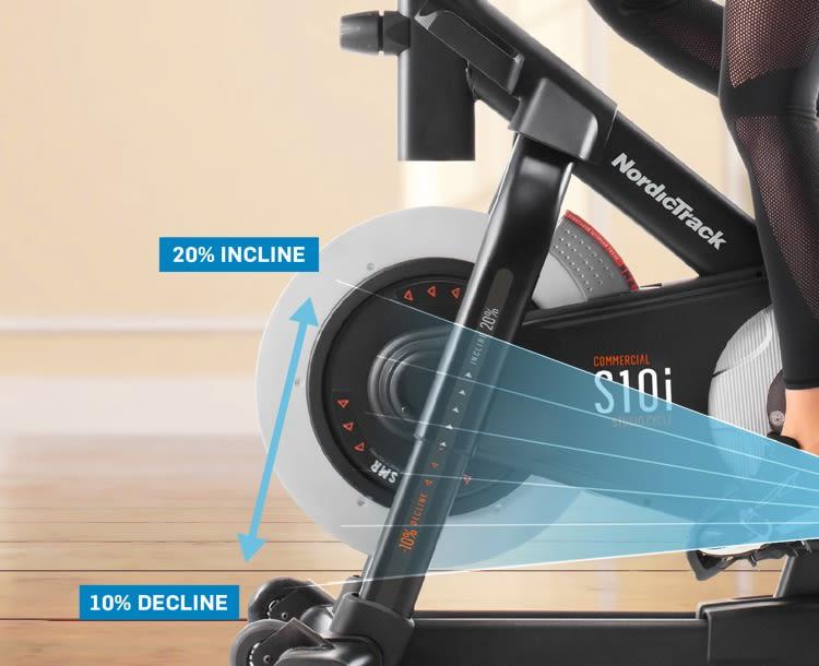 nordictrack studio bike s10i review