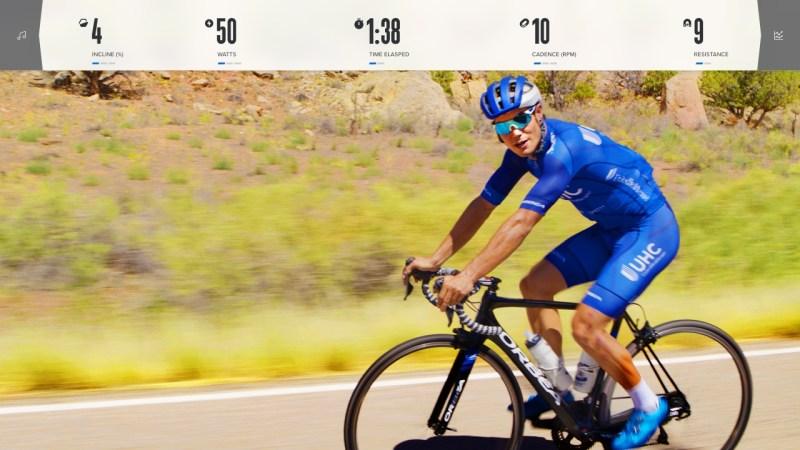 ifit coach on the Proform studio bike