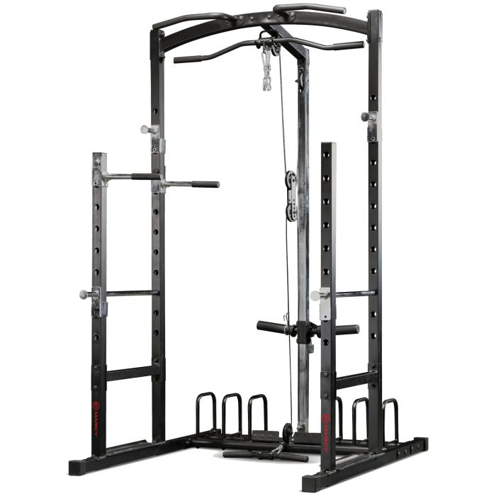 marcy eclipse rs5000 power rack gym with high low pulley system