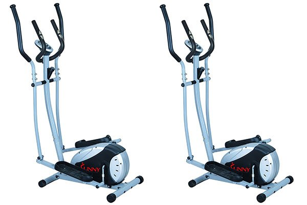 Elliptical Trainer with Hand Pulse Monitoring System
