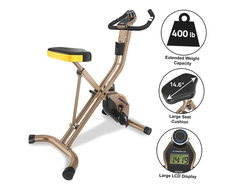 Exerpeutic-GOLD-500-XLS-Foldable-Upright-Bike,-400-lbs