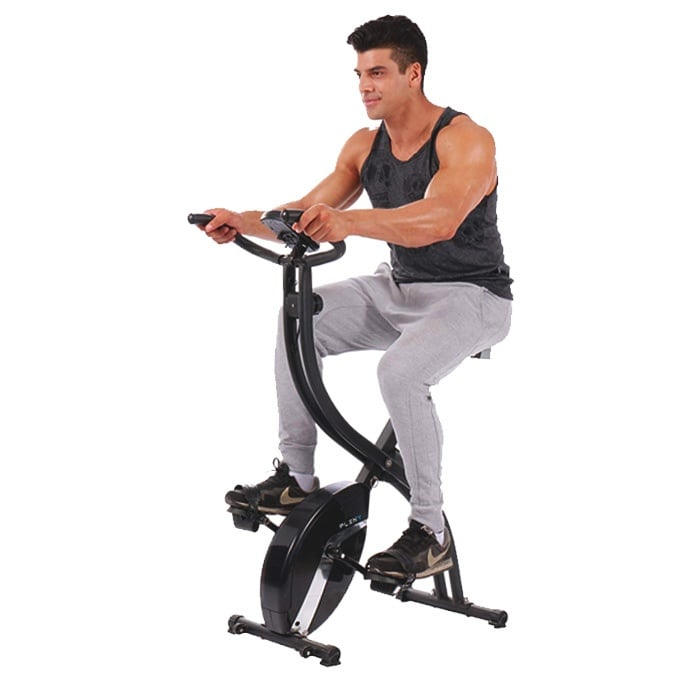 PLENY-Foldable-Upright-Stationary-Exercise-Bike-with-16-Level-Resistance