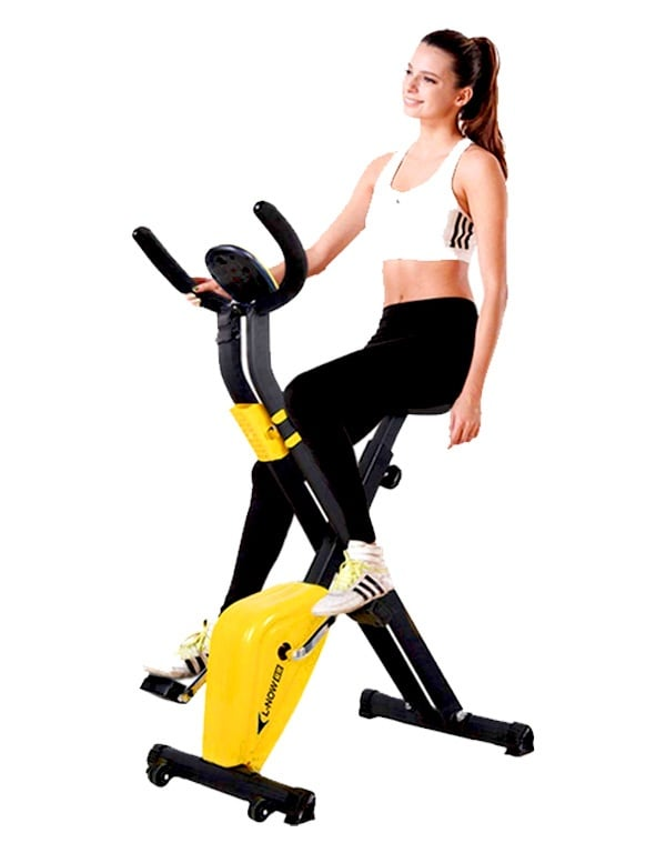 pooboo-Folding-Exercise-Bike-Indoor-Cycling-Bike
