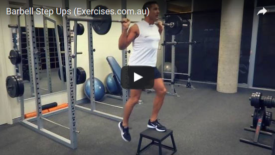 Barbell Step Ups Expert 2 23 Min How To Demo Video