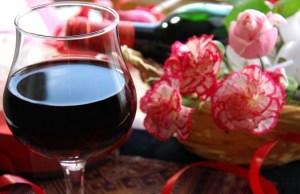 ワインとカーネーション