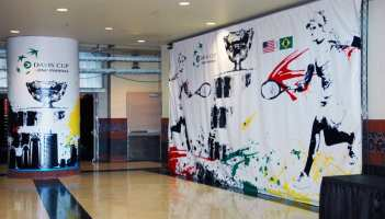ECN 112013_Corporate Communications sporting events decor_Davis Cup 2013_indoor large-scale graphics_Jacksonville