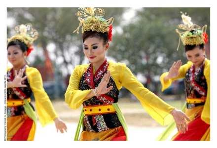 Betawi welcome dance, Jakarta, Indonesia