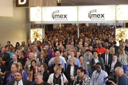 The crowd as doors open for IMEX America in 2013.