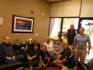 The Tantara-Sunset team in Las Vegas.