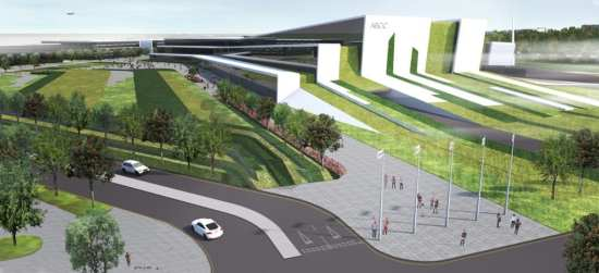 Rendition of Aberdeen Exhibition and Conference Centre.