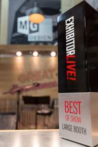MG Design's MuG theme won Best of Show - Large Booth at EXHIBITORLIVE 2015.
