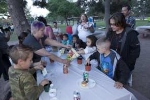 The outdoor event included family-friendly crafts and activities.