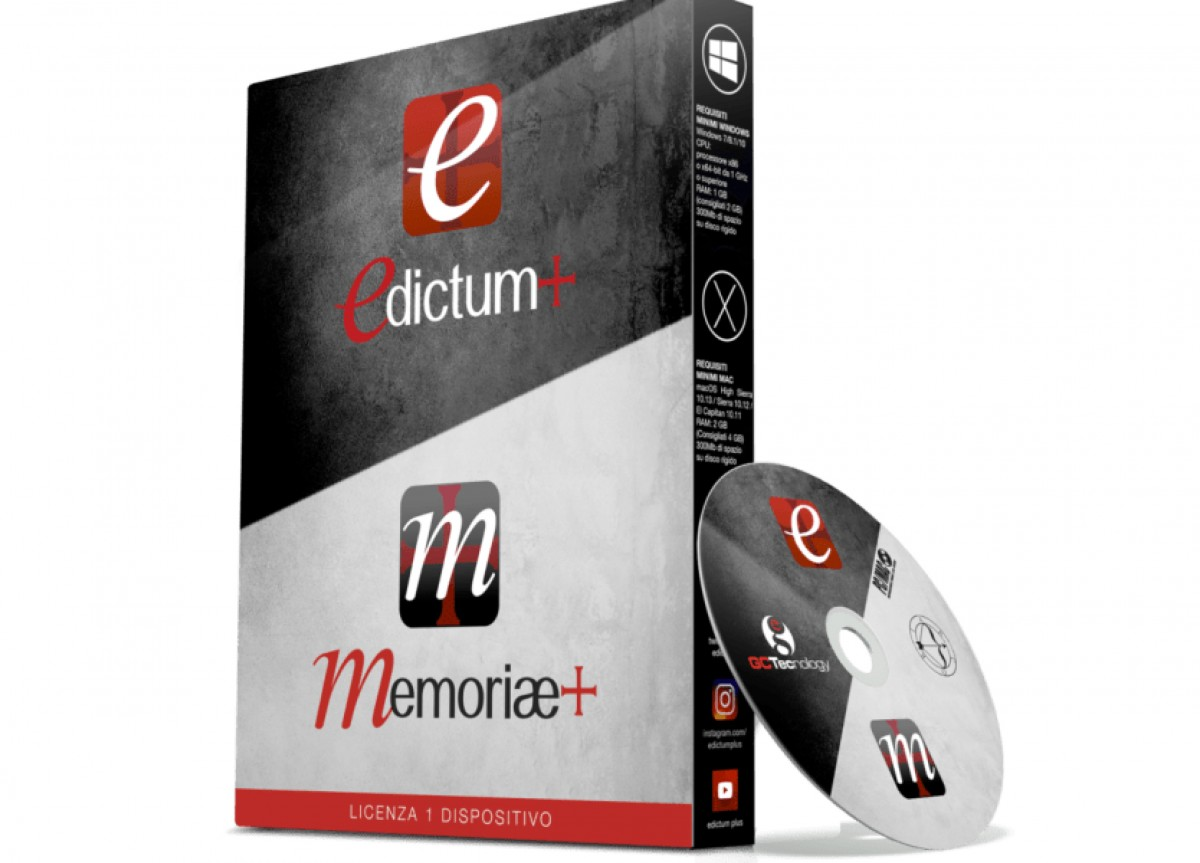 Versione DVD Edictum+ Pro 5.5 – Memoriae+ 2.8