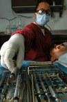 dentist doing medical treatment