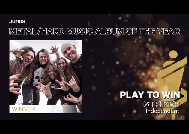 STRIKER Win 2020 JUNO Award For Metal / Hard Music Album of The Year