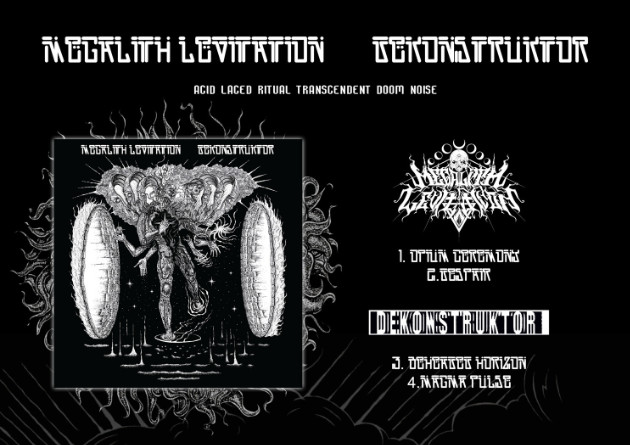 "Megalith Levitation / Dekonstruktor: ""Split Album"" – Stoner Doom Metal From Russia – Aesthetic Death"