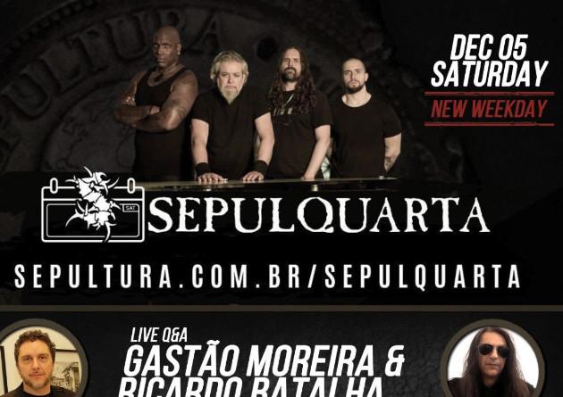 SEPULTURA – ospitano Gastao Moreira & Ricardo Batalha nel nuovo episodio di SepulQuarta e suonano 'Slave New World' con Matt Heafy (TRIVIUM)
