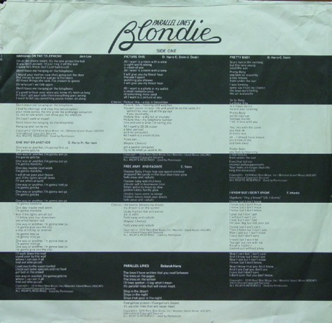 blondie inner sleeve