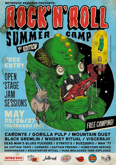 ROCK'N'ROLL SUMMER CAMP BY RETRO VOX RECORDS: Friday 25 , Saturday 26 & Sunday 27 May