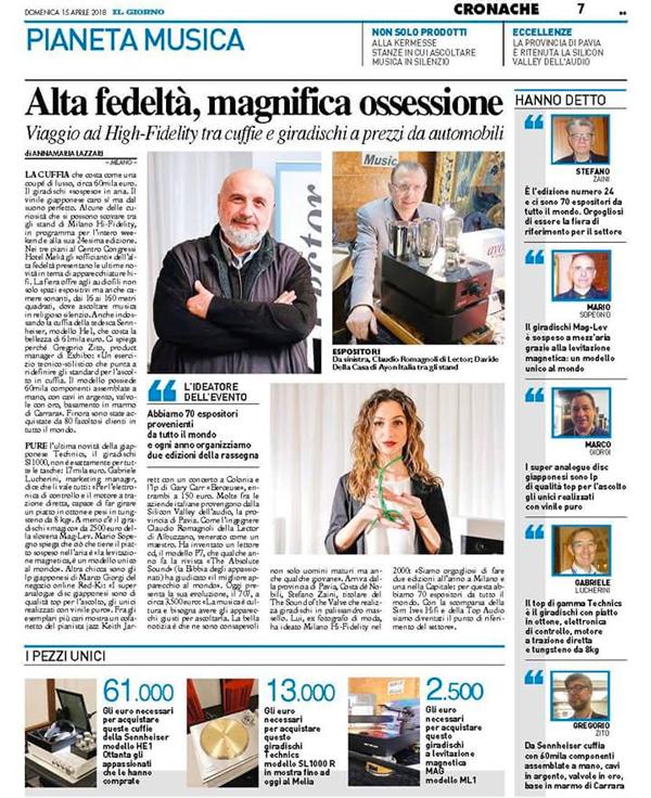 Audiogamma al Milano hi-fidelity autunno 2018: 6 e 7 ottobre, la più importante rassegna audio-video hi-end hi-fi, ENTRATA GRATUITA