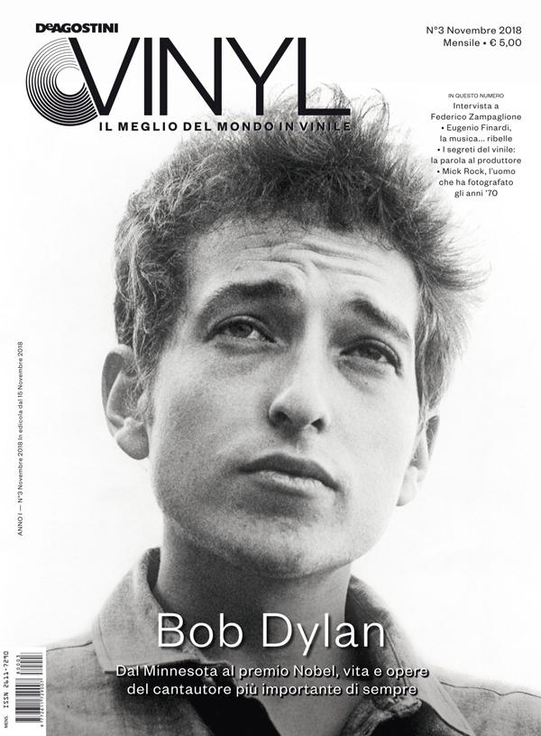 DE AGOSTINI VINYL: da domani, giovedì 15 novembre, in edicola il nuovo numero del magazine con un'imperdibile cover story dedicata a BOB DYLAN