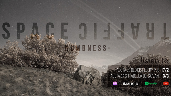 "SPACE TRAFFIC: ""Numbness"", il primo album della band di Aosta"