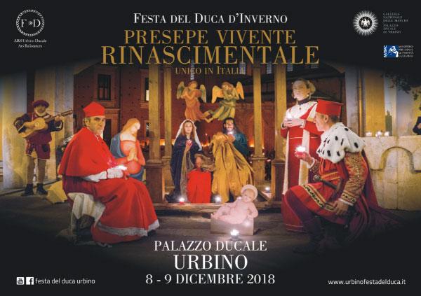 PRESEPE VIVENTE RINASCIMENTALE Festa del Duca d'Inverno VIII edizione: 8 - 9 dicembre  2018, Urbino (PU)
