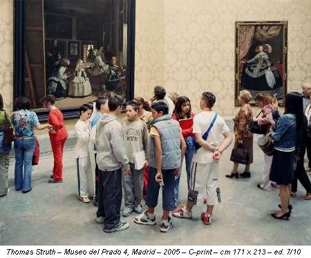 Thomas Struth – Museo del Prado 4, Madrid – 2005 – C-print – cm 171 x 213 – ed. 7/10