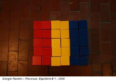 Giorgio Pandini – Processo: Equilibrio # 1 - 2008