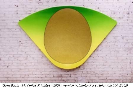 Greg Bogin - My Fellow Primates - 2007 - vernice poliuretanica su tela - cm 160x248,9