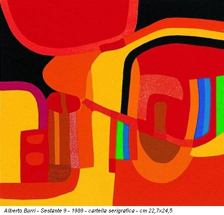 Alberto Burri - Sestante 9 - 1989 - cartella serigrafica - cm 22,7x24,5