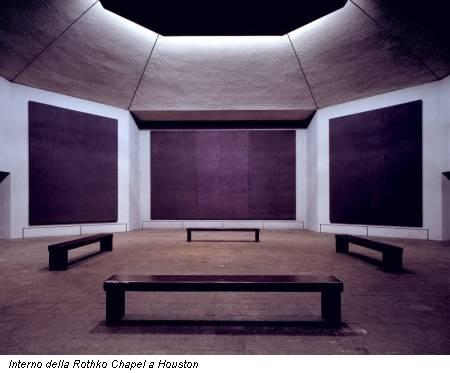 Interno della Rothko Chapel a Houston