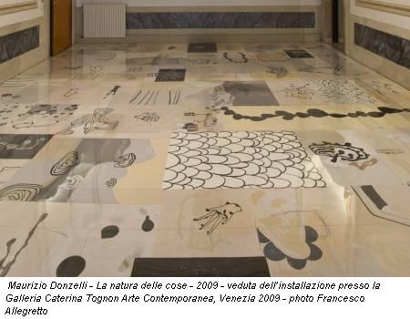 Maurizio Donzelli - La natura delle cose - 2009 - veduta dell'installazione presso la Galleria Caterina Tognon Arte Contemporanea, Venezia 2009 - photo Francesco Allegretto