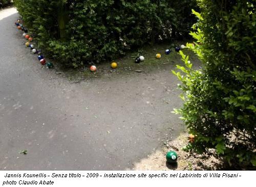 Jannis Kounellis - Senza titolo - 2009 - installazione site specific nel Labirinto di Villa Pisani - photo Claudio Abate