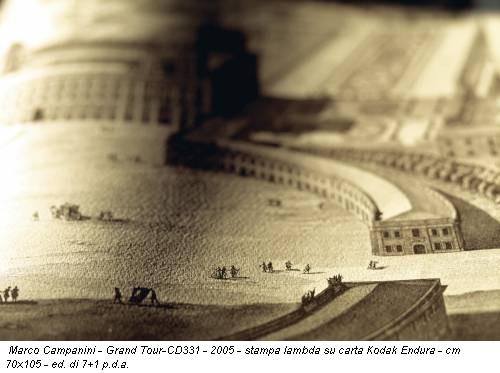 Marco Campanini - Grand  Tour-CD331 - 2005 - stampa lambda su carta Kodak Endura - cm 70x105 -  ed. di 7+1 p.d.a.