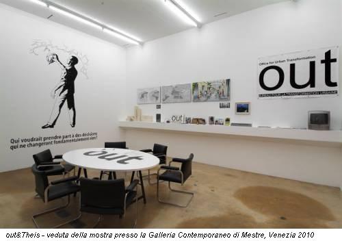 out&Theis - veduta della mostra presso la Galleria Contemporaneo di Mestre, Venezia 2010