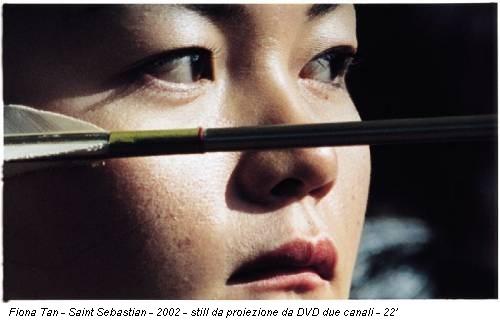 Fiona Tan - Saint Sebastian - 2002 - still da proiezione da DVD due canali - 22'