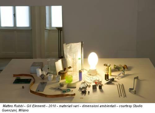 Matteo Rubbi - Gli Elementi - 2010 - materiali vari - dimensioni ambientali - courtesy Studio Guenzani, Milano