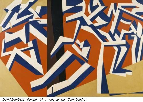 David Bomberg - Fanghi - 1914 - olio su tela - Tate, Londra