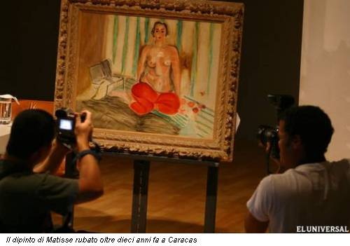 Il dipinto di Matisse rubato oltre dieci anni fa a Caracas