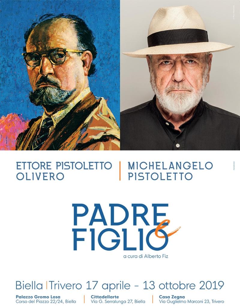 Risultati immagini per PADRE E FIGLIO ETTORE PISTOLETTO OLIVERO MICHELANGELO PISTOLETTO