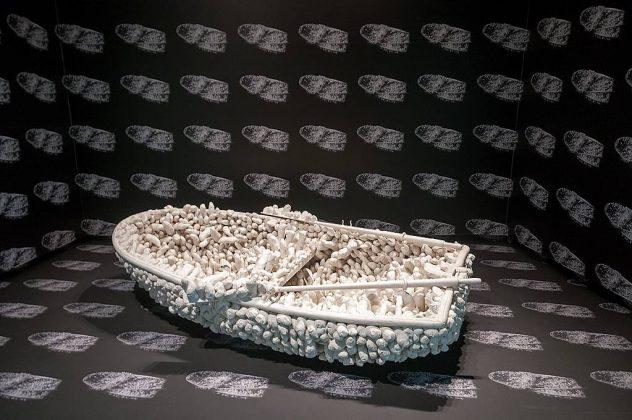 Yayoi Kusama, Aggregation: One Thousand Boats Show, 1963. ©Yayoi Kusama