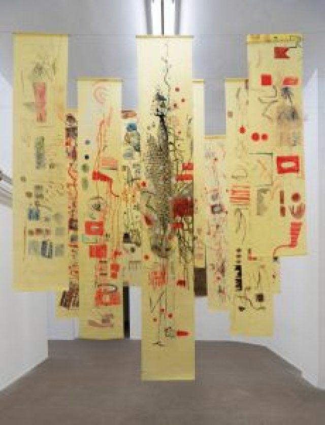 l carnevale del topo e del gatto, 2017 – in progress 13 disegni, carta velina; dimensioni variabili; foto: Giorgio Benni. Courtesy l'artista e Monitor Roma, Lisbona, Pereto